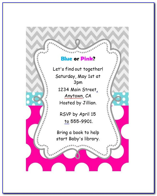 Boxing Gender Reveal Invitation Template