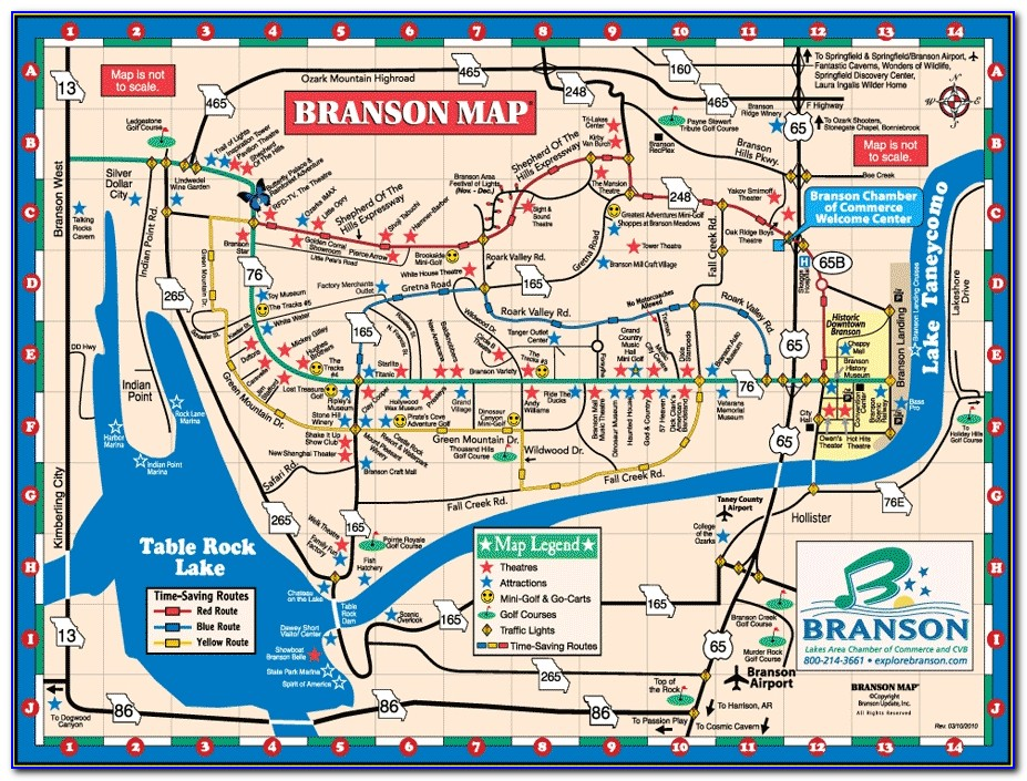 Branson Attractions Map