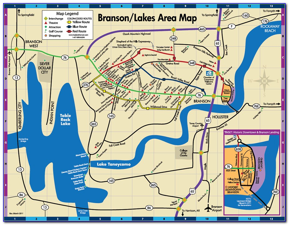 Branson Missouri Map Usa