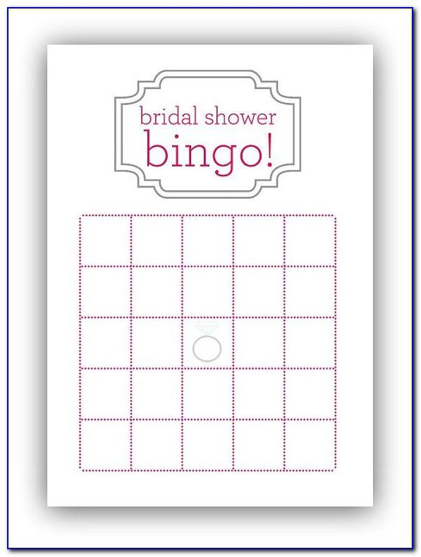 Bridal Shower Bingo Template Microsoft Word