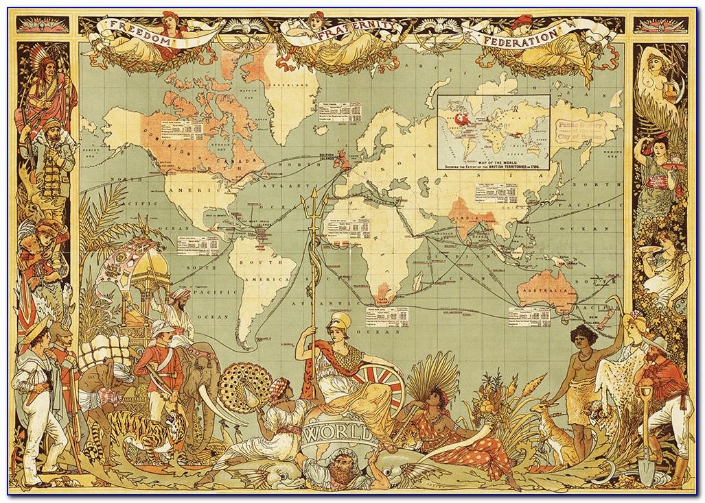 British Empire World Map Poster
