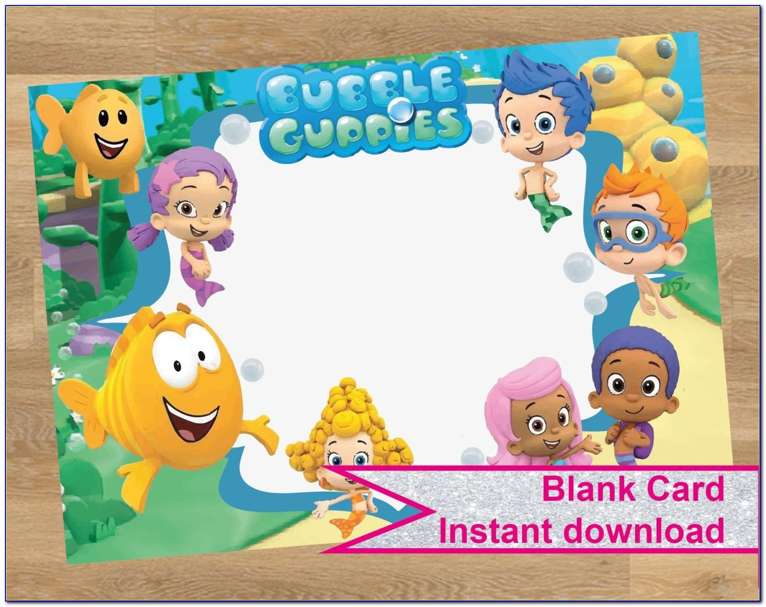 Bubble Guppies Birthday Invitation Template  vincegray5