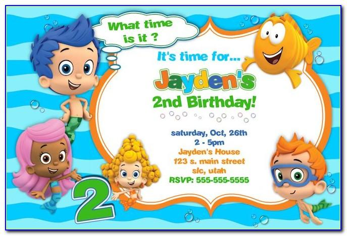 Bubble Guppies Party Invitations Templates