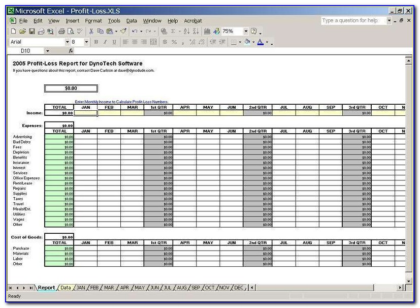 Business Budget Spreadsheet Template Australia