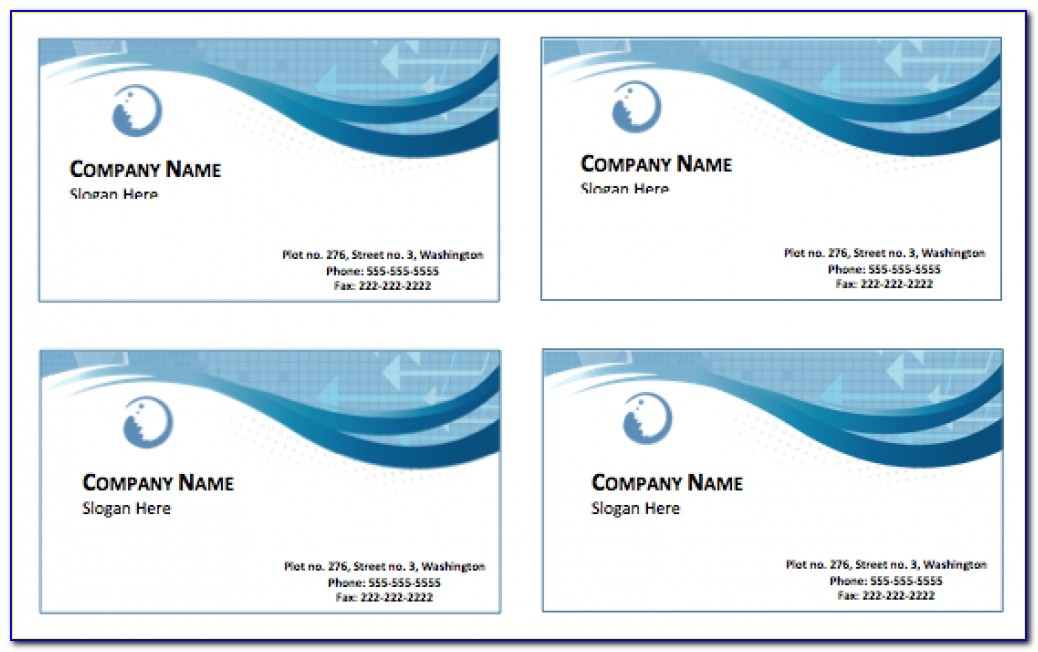 Blank Business Business Card Template Word Free Download Word Fr11
