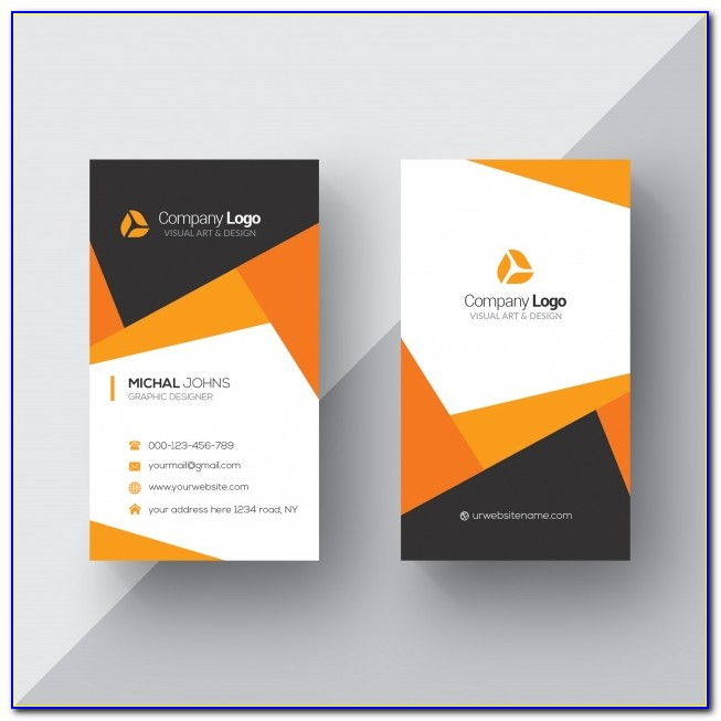 Business Card Design Template Psd Free Download