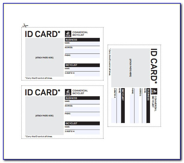 Business Id Card Template Free
