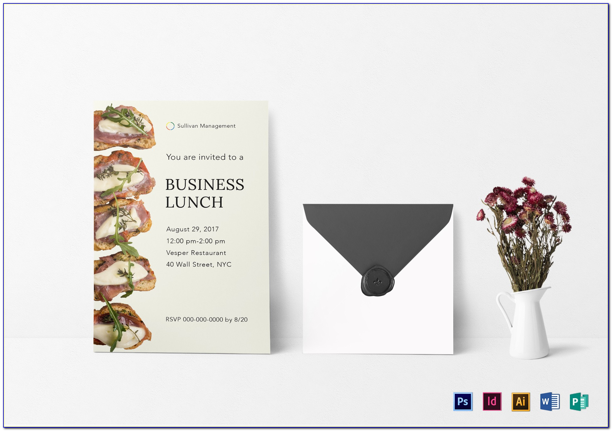 Business Lunch Invitation Card Sample