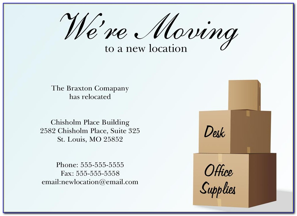 Business Moving Announcement Template Free