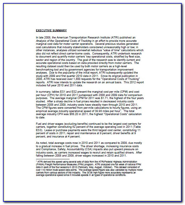 Business Plan Sample For Trucking Company