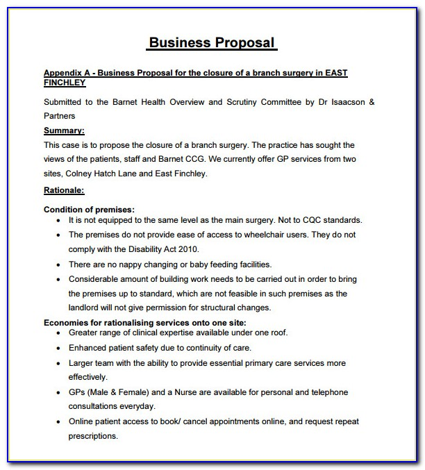 Business Proposal Letter Template Free Download