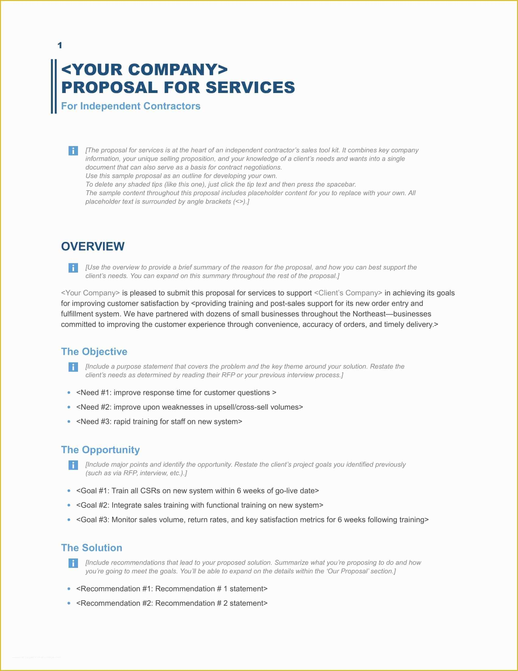 Business Templates Free Of Download A Free Business Proposal Template Formfactory