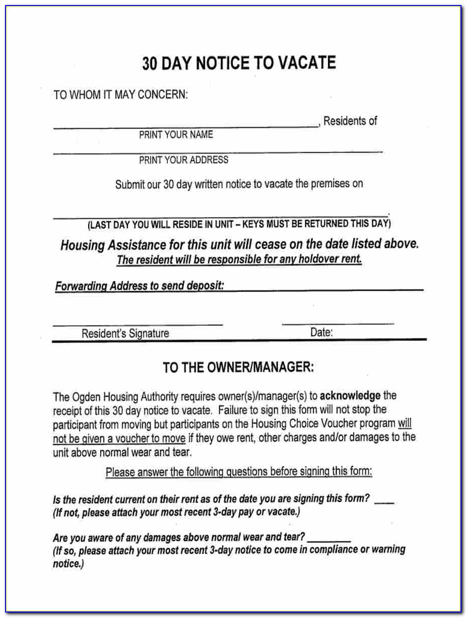 Ca 30 Day Notice To Vacate Form   vincegray30