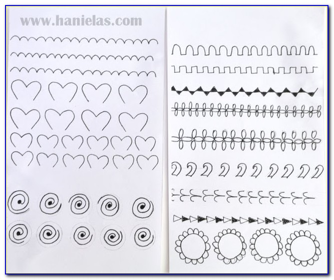 Cake Piping Practice Templates