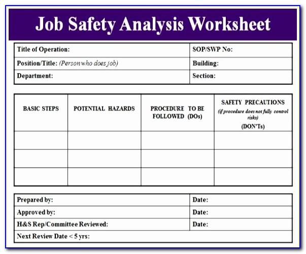 Cal Osha Job Hazard Analysis Form