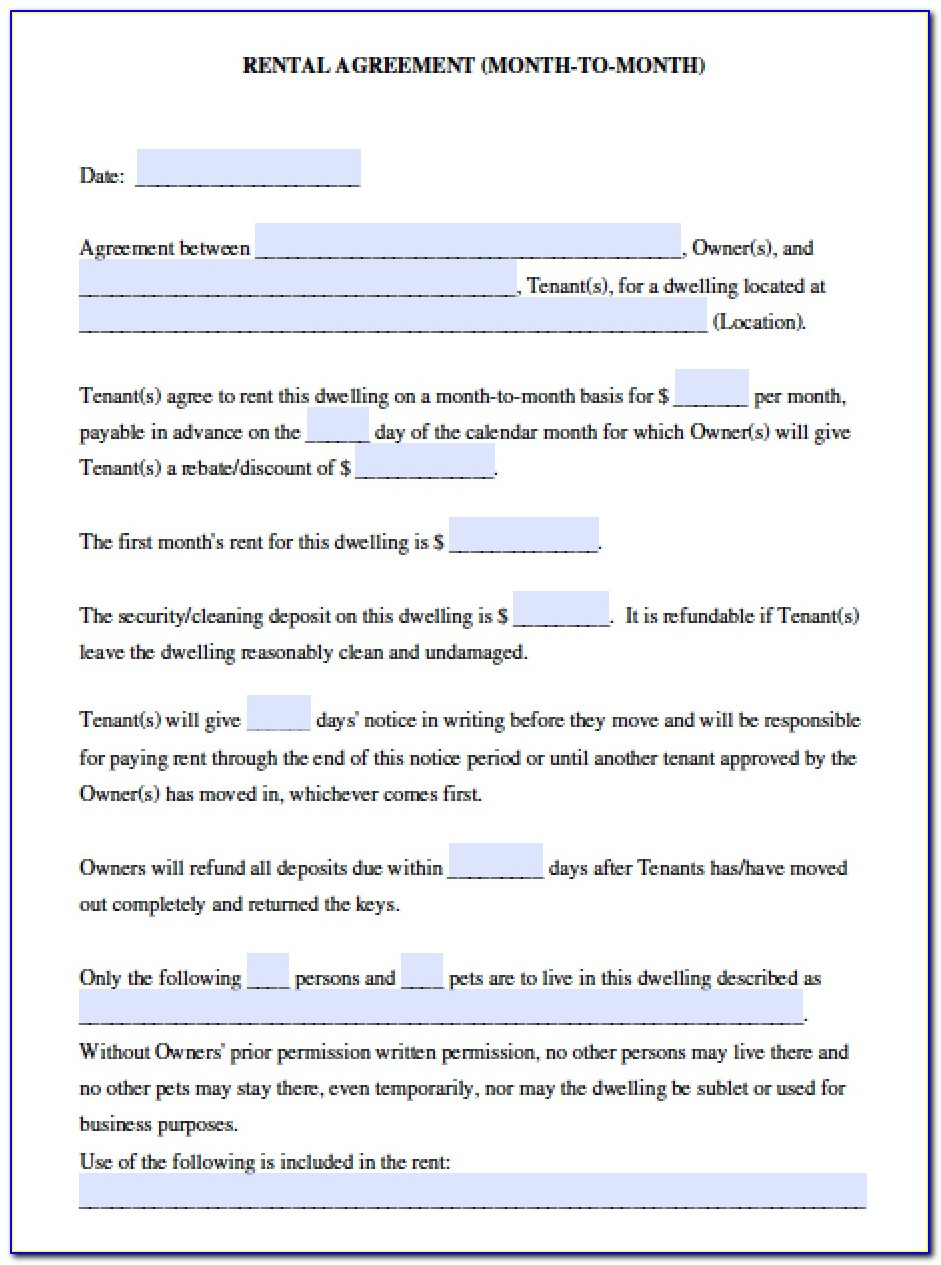 California Association Of Realtors Residential Lease Form