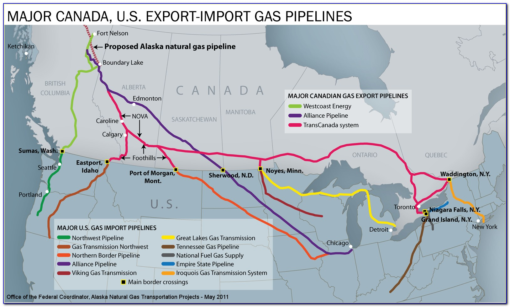 Canadian Crude Oil Pipeline Map