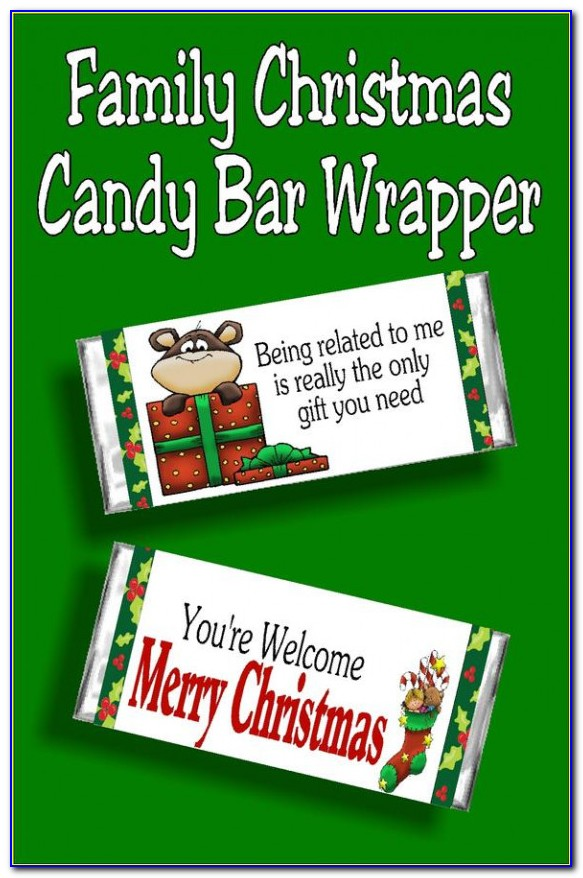 Candy Bar Wrapper Template Size