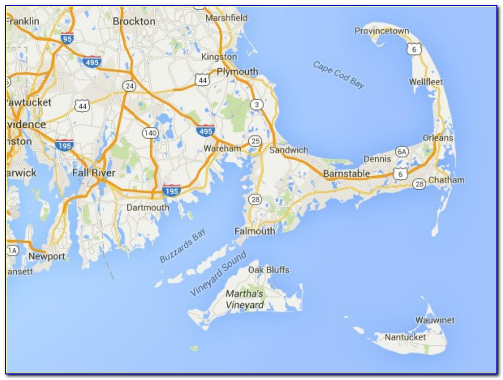 Cape Cod Canal Maps