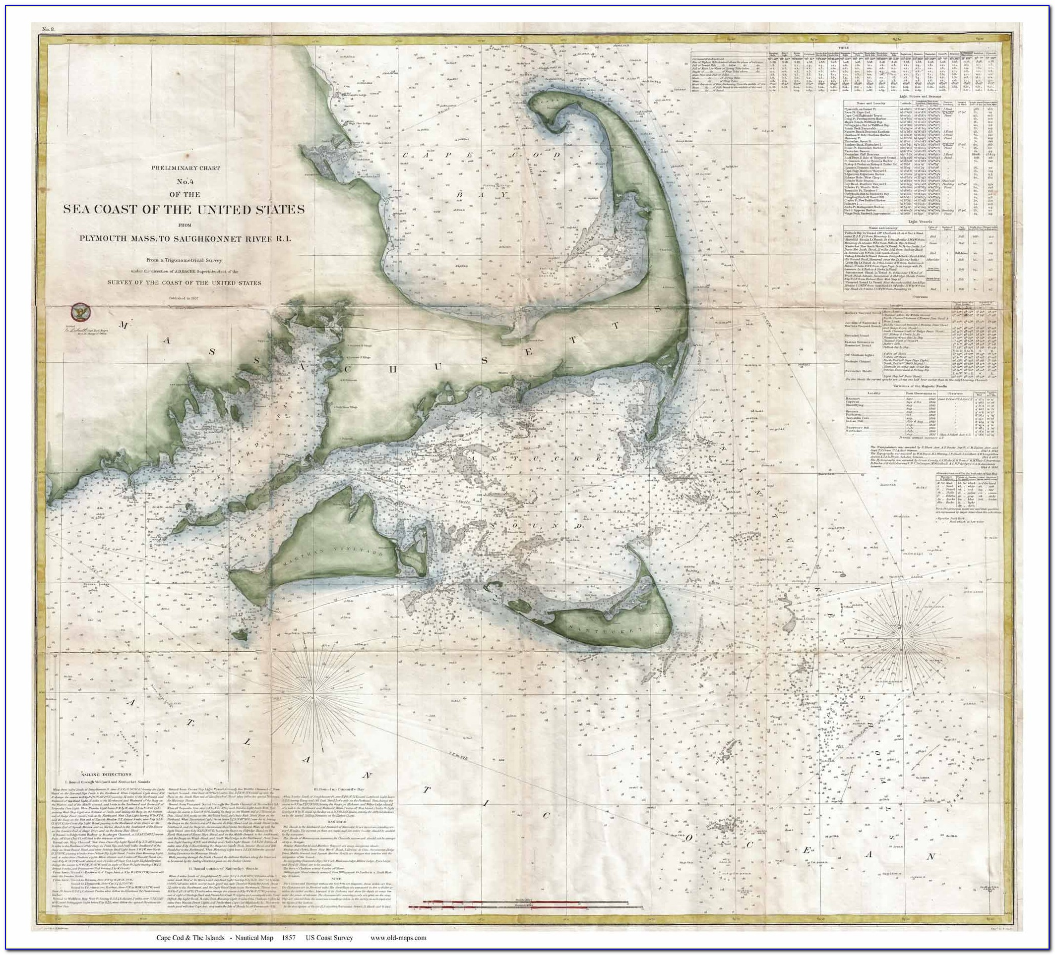 Cape Cod Nautical Chart Blanket