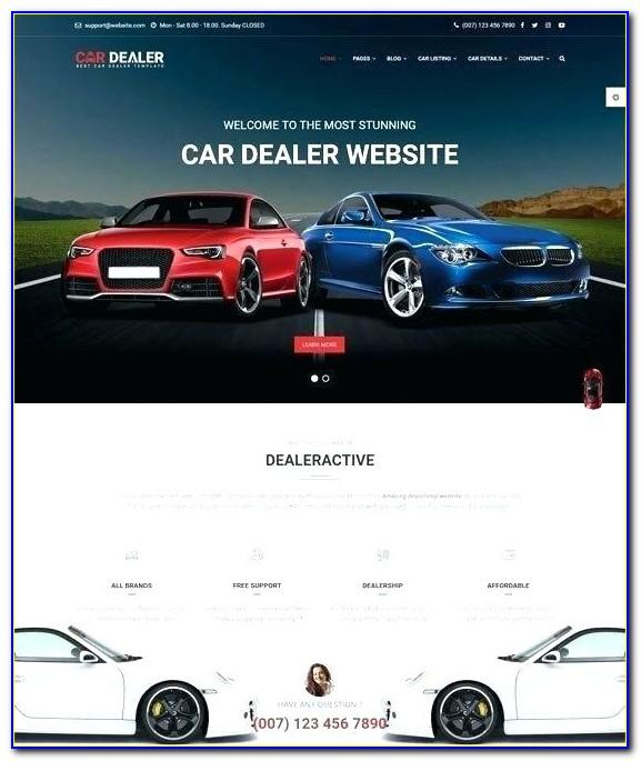 Car Dealer Website Template Free Download