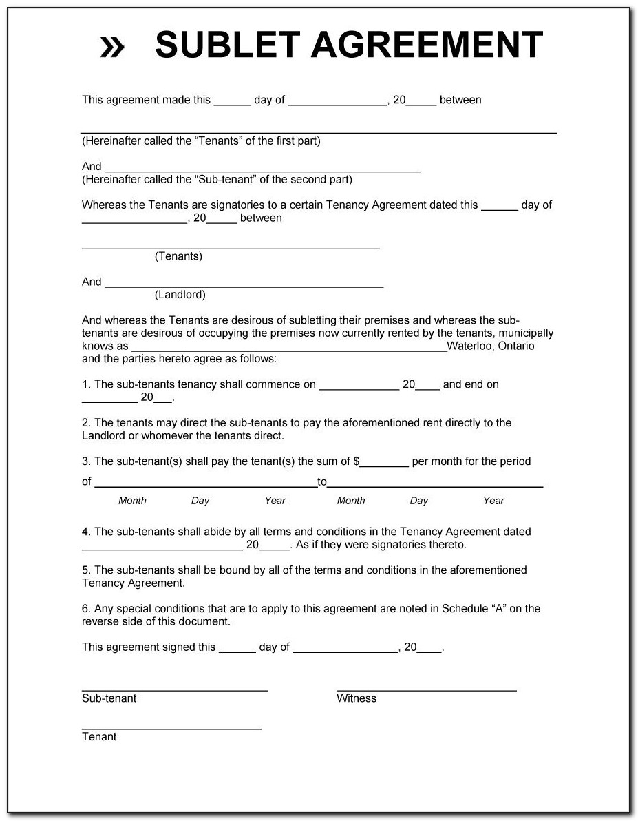 Car Lease Contract Template Free
