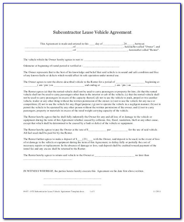 Car Leasing Agreement Template Singapore