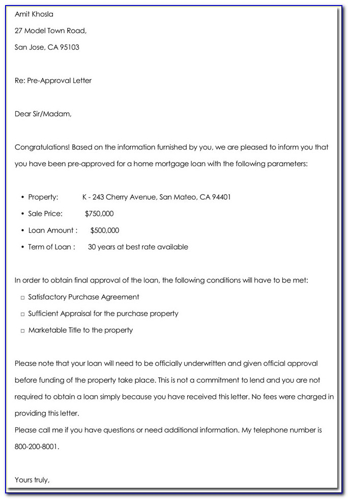 Car Loan Approval Letter Template