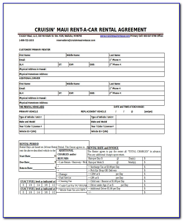 Car Rental Agreement Template Singapore