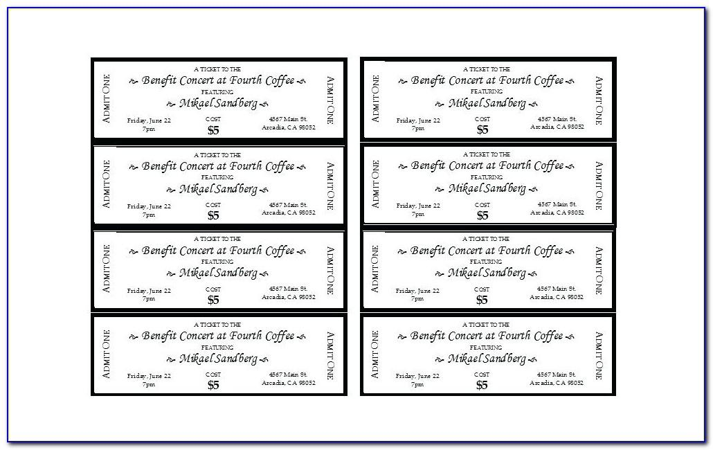 Car Wash Ticket Template Free Download