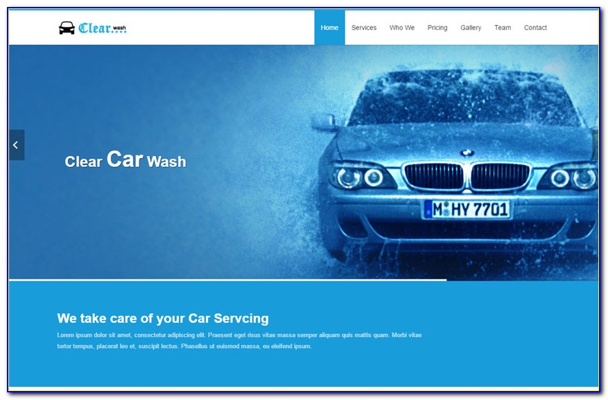 Car Wash Website Template Free Download