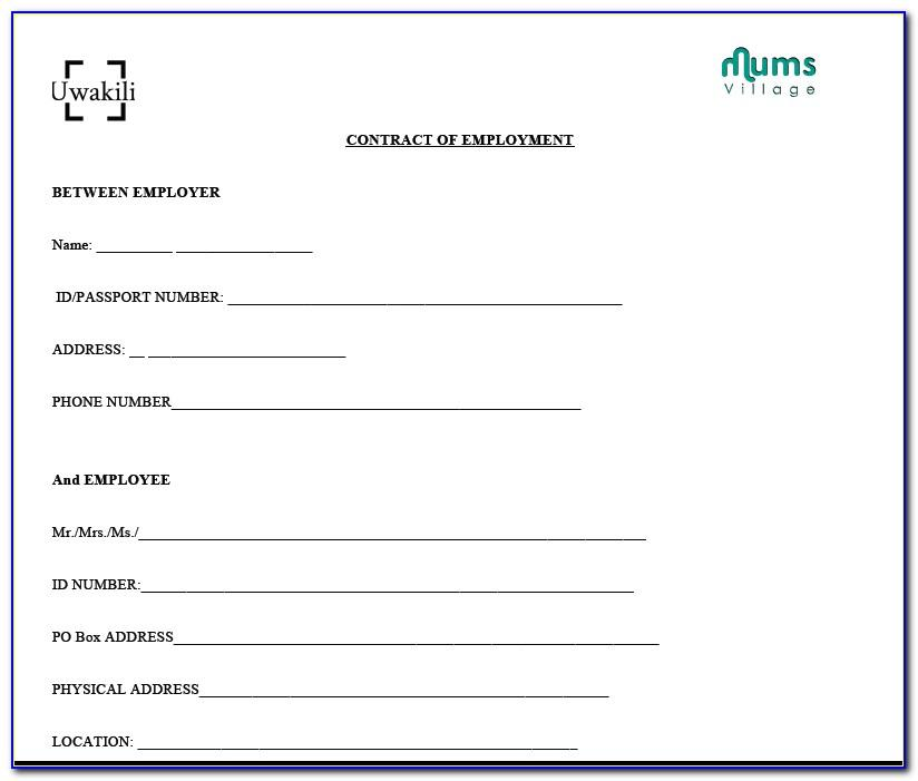 Caregiver Contract Samples