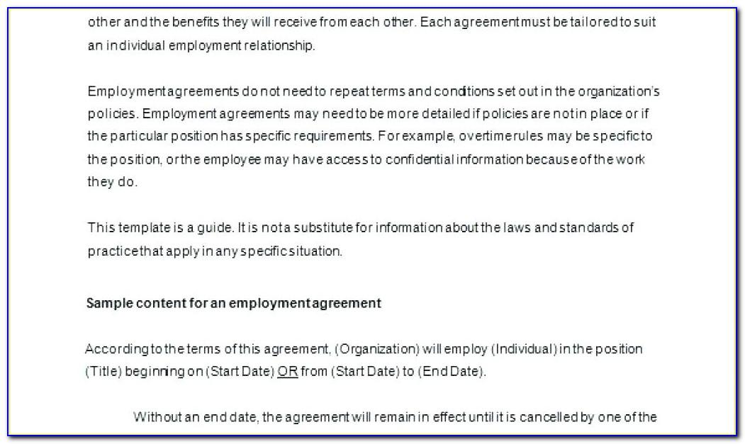 Caregiver Contract Template Canada