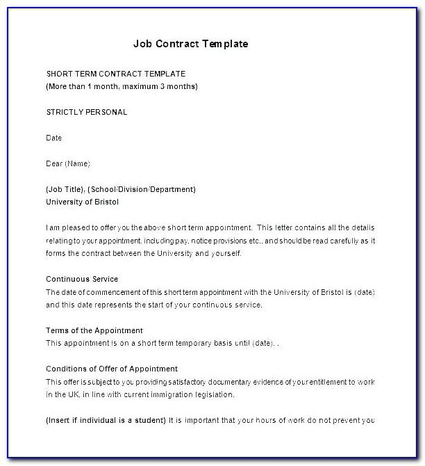 Caregiver Employment Contract Template