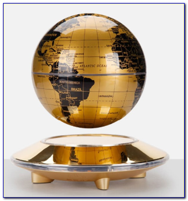 Carejoy C Shape Decoration Magnetic Levitation Floating Globe World Map