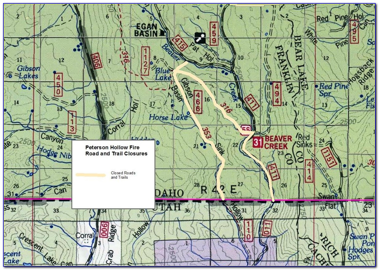 Caribou Targhee National Forest Camping Map