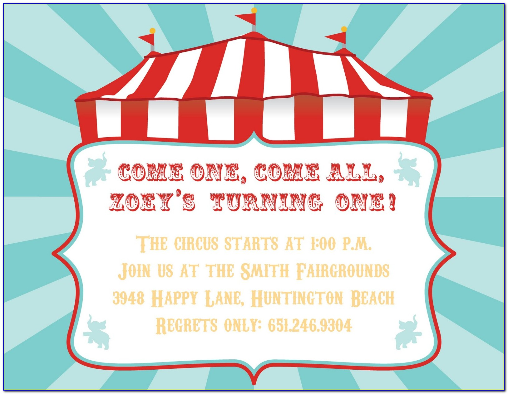 Carnival Party Invitation Templates Free