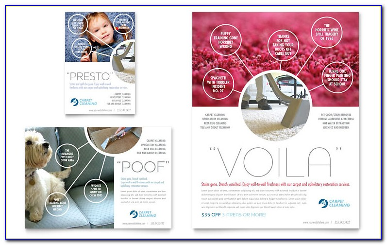 Carpet Cleaning Advertising Templates