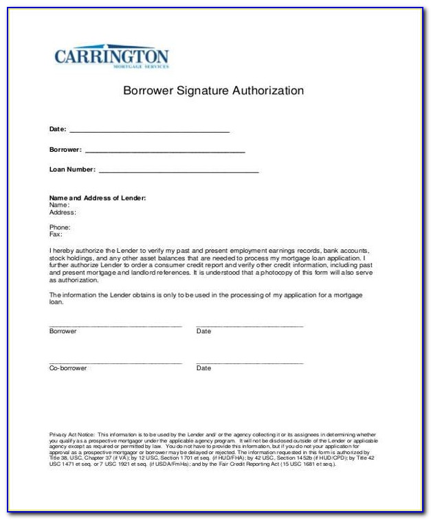 Cas Electronic Signature Authorization Form