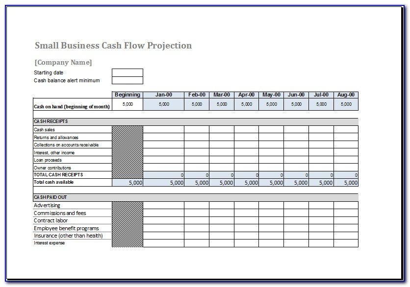 Cash Flow Forecasting Template Excel