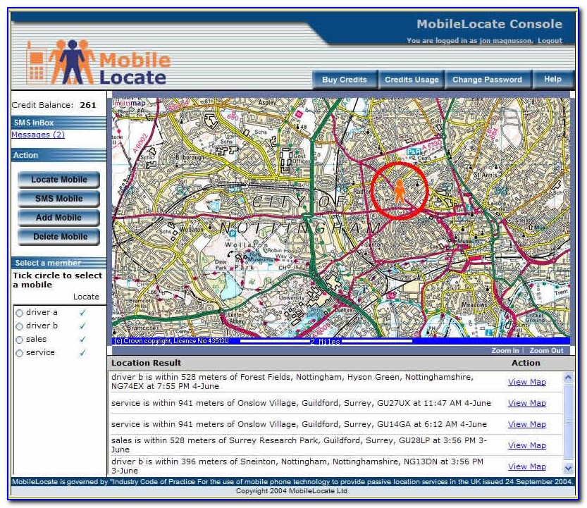 Cell Phone Tower Locator Map