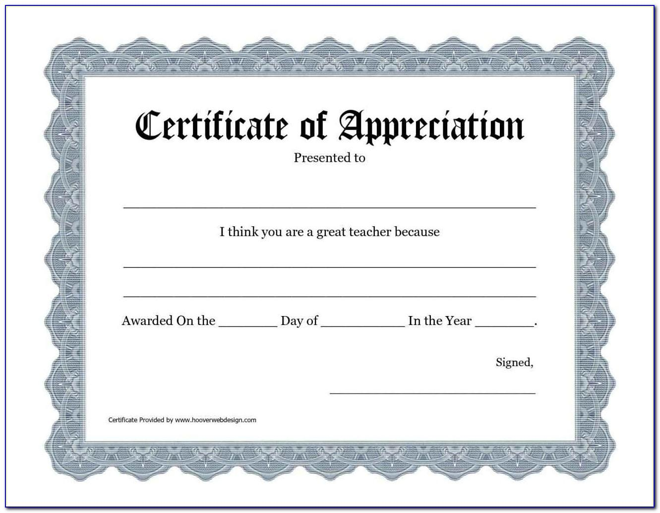 Certificate Of Recognition Template Free Download Editable