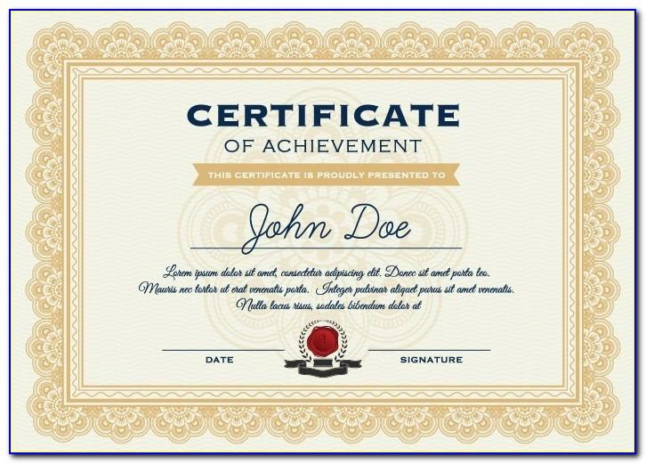 Certificate Seal Template Free