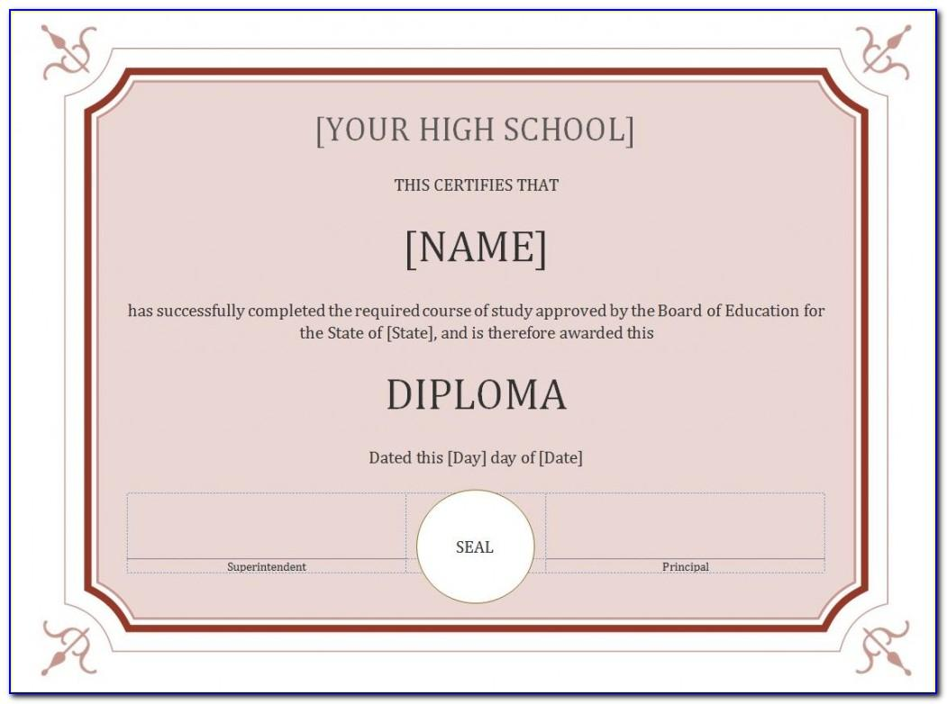 Certificate Seal Template Word