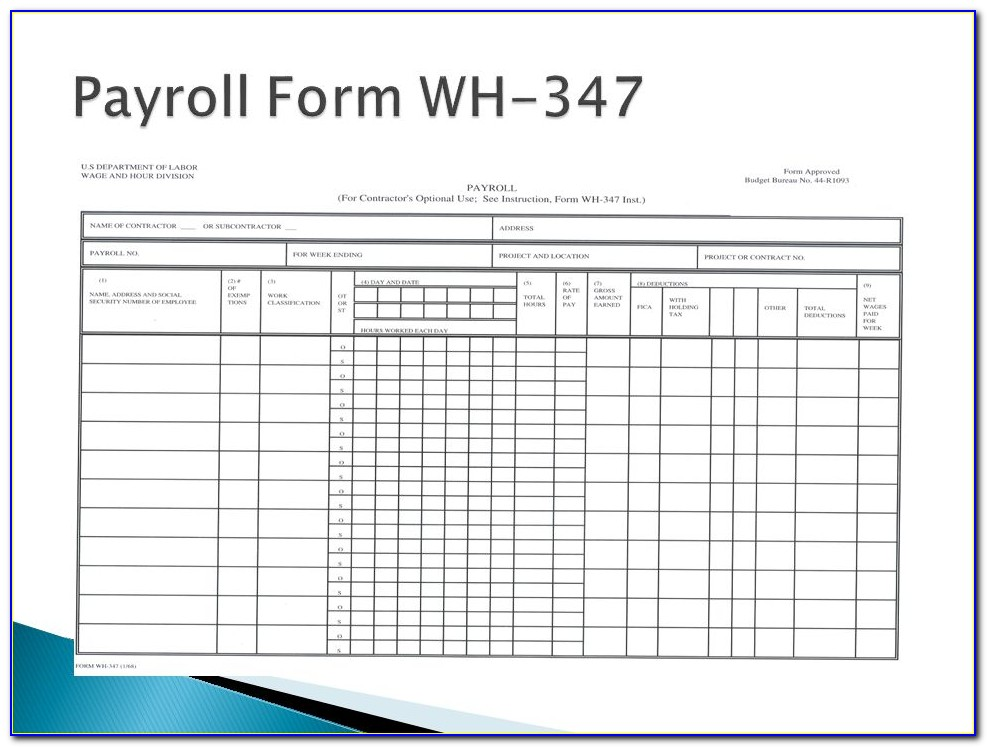 Payroll Form Wh 347