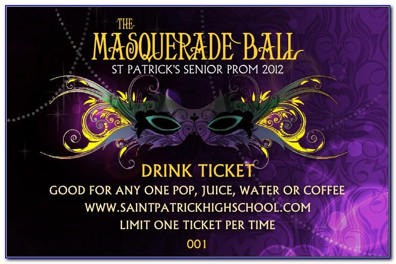 Charity Ball Ticket Template