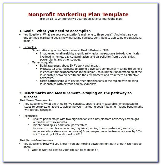 Charity Marketing Strategy Template