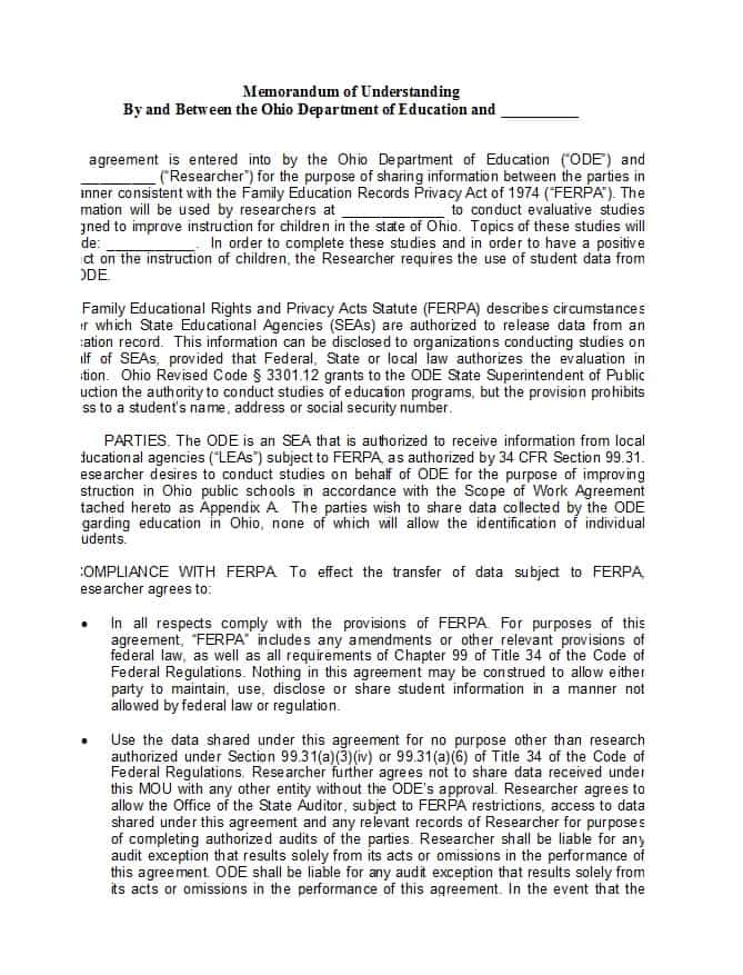 Charity Partnership Agreement Template Canada