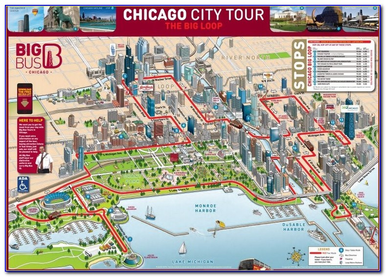 Chicago Hop On Hop Off Trolley Map