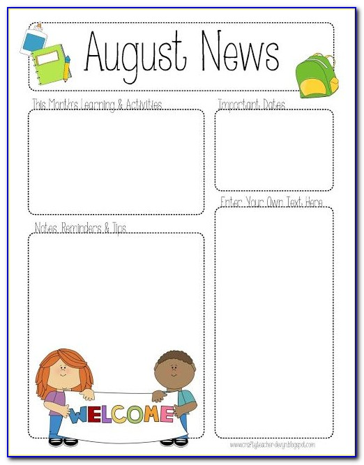Childcare Newsletter Templates